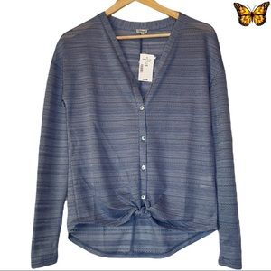 Kismet Button Up Long Sleeve Top Size Extra Small